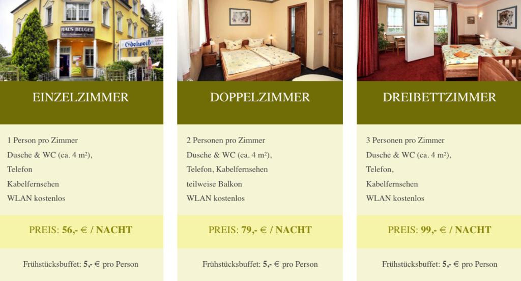 Preise Haus Belger